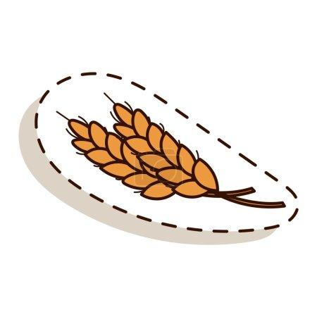 Autumn icon isolated