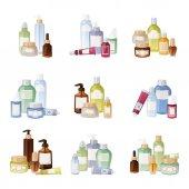Cosmetics bottles vector illustration