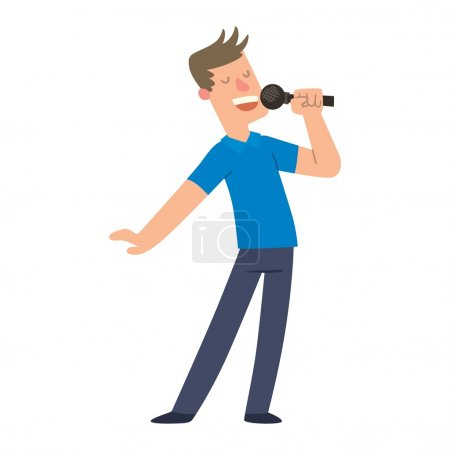 Singing people vector character