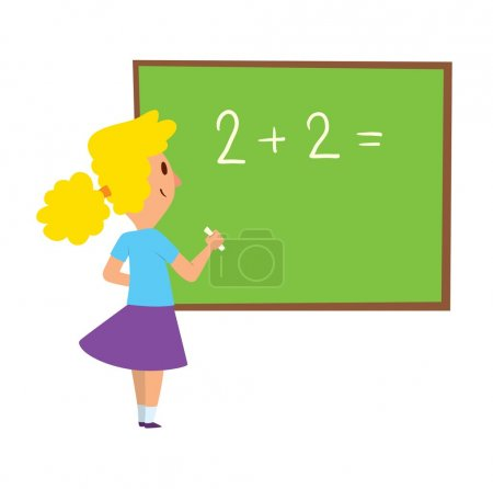 School kid character vector.