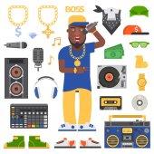 Hip hop man musician with microphone breakdance expressive rap portrait Modern young hip hop man fashion person adult people Hip hop man dancer trendy lifestyle urban handsome black rapper guy