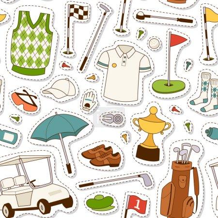 Golf seamless pattern vector.