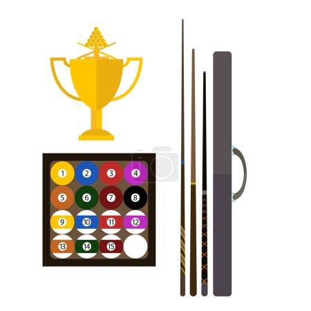 Billiards game equipment vector