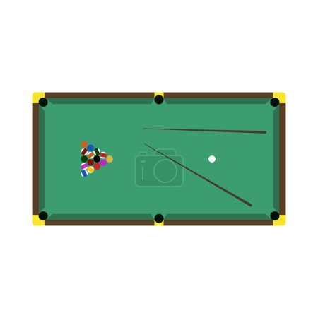 Billiards game table equipment vector
