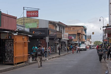 Street in the downtown of San Jose the capital of Costa Rica