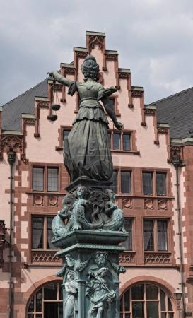 Justitia - Lady Justice sculpture on the Roemerberg square