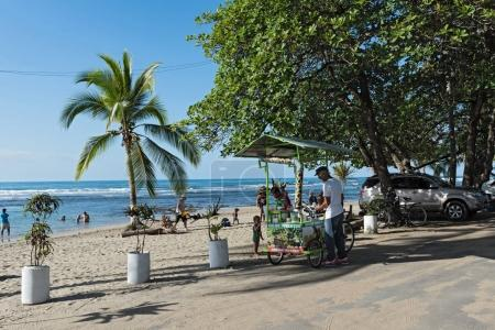 Fruit juice seller at the beach in Puerto Viejo, Costa Rica