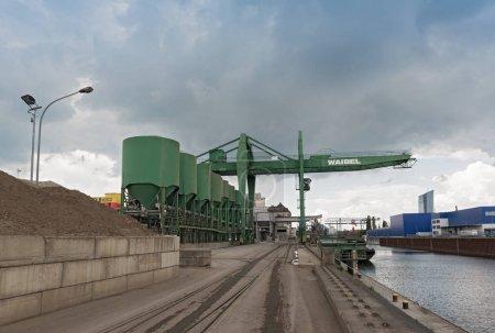 Industrial plants in the east harbor of Frankfurt, Germany