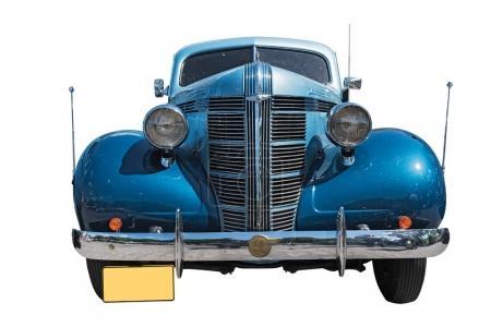 Blue isolated on white background pontiac oldtimer car