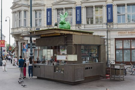 The Wuerstelstand (sausage stand) in front of Albertina, Vienna