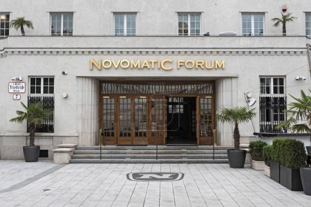 Novomatic Forum art deco building, Vienna, Austria