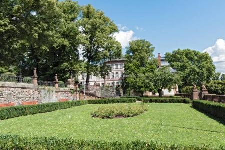 Park of the Bolongaropalastes in Frankfurt Hoechst