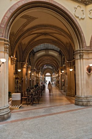 The Ferstelpassage in the Palais Ferstel, Vienna, Austria