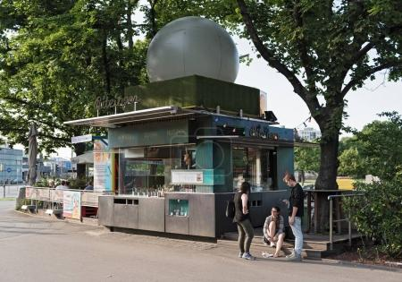 The Wuerstelstand (sausage stand) in front of the Prater in Vienna, Austria