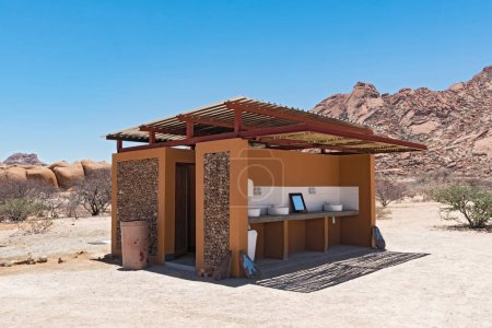 Toilet with washing facilities at the Spitzkoppe in Namibia