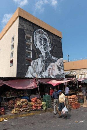 CAMPECHE, MEXICO-MARCH 13, 2018: Street art at the Mercado Principal in Campeche, Mexico