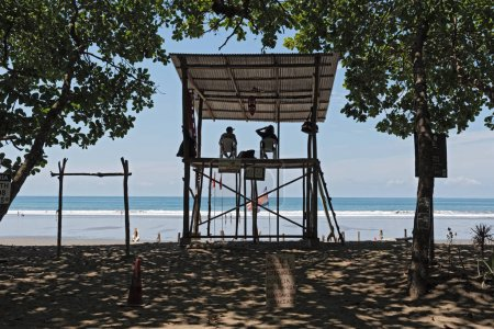 PUNTARENAS, COSTA RICA-MARCH 14, 2017: lifeguard station at a beach of the Pacific Ocean south of Puntarenas, Costa Rica