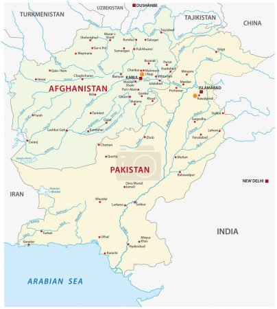 pakistan afghanistan map