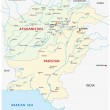 Постер, плакат: pakistan afghanistan map