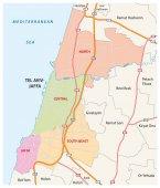Administrative roads and political map of the Israeli city of Tel Aviv-Jaffa