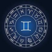 Gemini astrology sing in zodiac circle