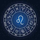 Leo astrology sing in zodiac circle