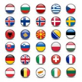 Set of flags of European countries