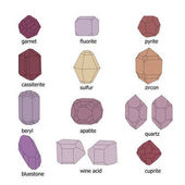 The shape and color of the crystals of certain substances
