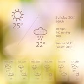 Vector illustration EPS 10 Summer theme background weather Morning and evening presentation template