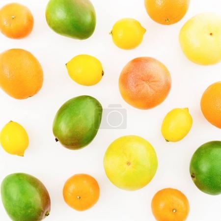 Fresh citrus fruits and mangos