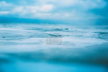 Blue wave in ocean. Clear crystal waves