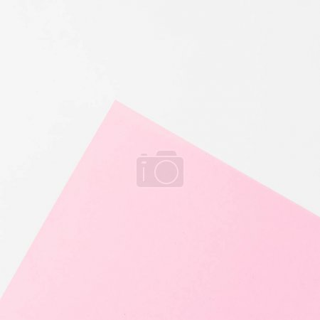White and pink background. Flat lay. Top view