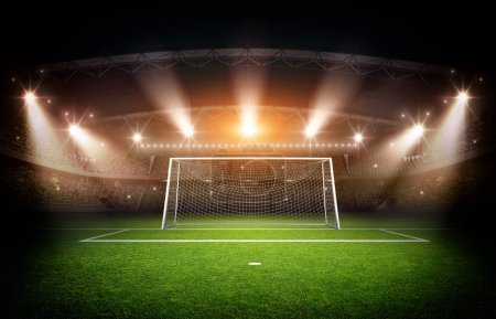 Stadim and Goal post ,3d rendering