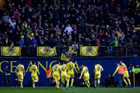 VILLARREAL, SPAIN - JANUARY 8: Villarreal players ...