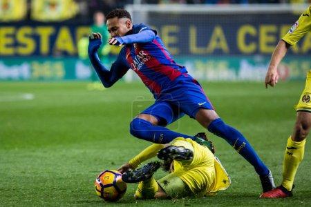 VILLARREAL, SPAIN - JANUARY 8: Neymar during La Li...