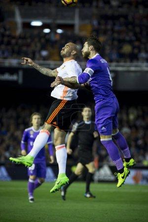 (L) Zaza and Ramos during La Liga