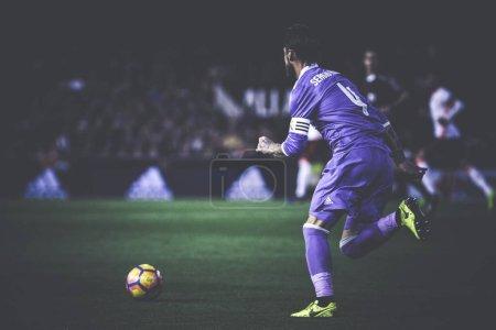 Sergio Ramos during La Liga