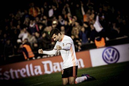 Gaya celebrates the victory during La Liga