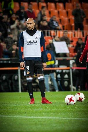 VALENCIA, SPAIN - JANUARY 9: Zaza during Spanish King Cup match between Valencia CF and Las Palmas at Mestalla Stadium on january 9, 2018 in Valencia, Spain