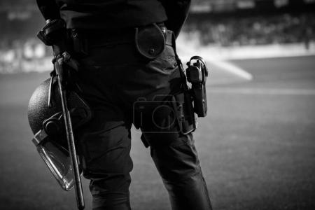 UIP Spanish Police during Spanish King Cup match between Valencia CF and Alaves at Mestalla Stadium on january 17, valencia