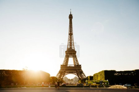 Paris, France - June 19, 2017: View of Eiffel tower