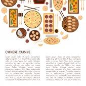 Vector cartoon chinese cuisine food concept