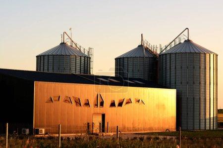 Warehouse silo in Modern farming