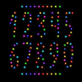 Vector number set from christmas lights