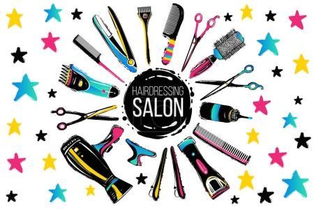 Illustration pour Icône salon de coiffure, illustration vectorielle - image libre de droit