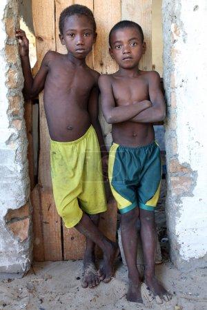 boys in Morondava Madagascar