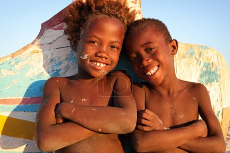 Unidentified happy children