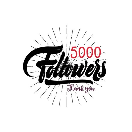 Thank you 5000 followers poster. You can use social networking. Web user celebrates a large number of subscribers or followers.