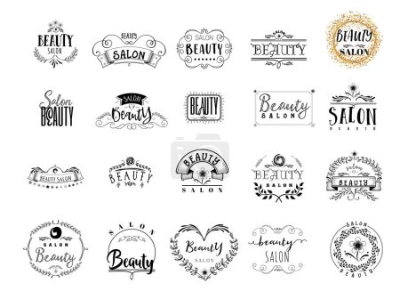 Illustration for Beauty Salon. A hand-made logo is a badge for your design - Royalty Free Image