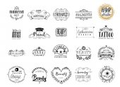 Beauty Salon professions in the beauty industry A hand-made logo is a badge for your design